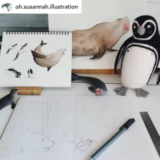What a gift it is to see your words brought to life. The bellowing seal in Where the Heart Is is definitely a fave spread 🐧  #wheretheheartis @oh.susannah.illustration @ekbooksforkids #picturebook #picturebooks #picturebookillustration #picturebooksofinstagram #picturebooksaremyjam #kidsbooks #kidsofinstagram #reading #kidsbooksofinstagram #penguin #penguins #riodejaneiro #brazil