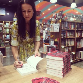 Day 6 of The Breaking book tour. Frocked up in elephant print* and hit Dymocks in Newcastle and Bookface in Erina. More gorgeous booksellers! All the love for every one of them. . *No elephants were harmed in the making of this frock.  #TheBreaking #writinglife #writerslife #authorlife #authorslife #authorsofinstagram #writersofinstagram #elephants #elephantlove #elephantlover #thailand #travel #travelling #wanderlust #booktour #newcastle #terrigal @dymockscharlestown @bookfacestores @thebookcasebandit