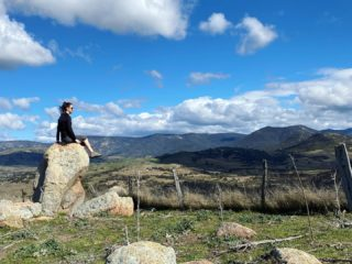 Went off-track today and discovered the most amazing 360 panoramic view. Best by far of anything I have seen anywhere in the region. And it's just a paddock, with no paths. Just me and the sheep and the cows taking it all in. Impossible to explain how I felt sitting on this rock looking at the mountains. Photos don't capture the view at all. It was epic. More thankful than ever for all this on my doorstep during lockdown.  #lockdown #lockdownlife #brindabellas #canberra #canberralife #mountains #mountainscape #landscape #cloudscape #nature #walking