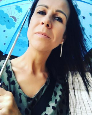Day 8 of The Breaking book tour. Wet messy day in Sydney. Berkelouw Paddington sold me the only umbrella they had. A teeny kids cloud-covered number that made passers by smile! . My life is basically just signing books now but I took a break to interview one of my favourite writers for @secretsfromthegreenroom, the incredible Nikki Gemmell who is also just an amazing human. . Thanks to all the gorgeous booksellers today at @gleebooks @betterreadbookshop @berkelouwbooksleichhardt @constantreaderbookshop @berkelouwbooks Paddington . Also that is not some random car. It's my BookTourmobile. One week down, one week to go!  @nikki.gemmell @midnightsunpublishing #TheBreaking #writinglife #writerslife #authorlife #authorslife #authorsofinstagram #writersofinstagram #elephants #elephantlove #elephantlover #thailand #travel #travelling #wanderlust #booktour #sydney #sydneylife