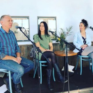 So enjoyed my final panel at Headland writers fest on podcasting (my dress is a nod to our Secrets from the Green Room pod). Such an incredible weekend. Such a great vibe. And always love catching up with my writer tribe. Shout out to the organisers @southeastarts and @candelobooks who made it so brilliant.  #headlandwritersfestival @midnightsunpublishing @secretsfromthegreenroom #writinglife #writersofinstagram #writingcommunity #writerslife #authorlife #authorsofinstagram #tathra